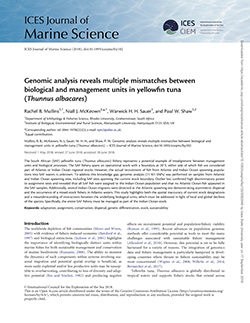 Genomic analysis reveals multiple mismatches between biological and management units in yellowfin tuna (Thunnus albacares)