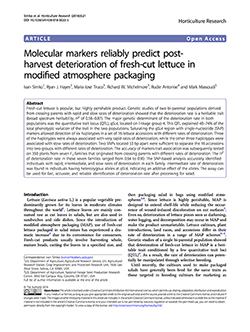 Molecular markers reliably predict postharvest deterioration of fresh-cut lettuce in modified atmosphere packaging